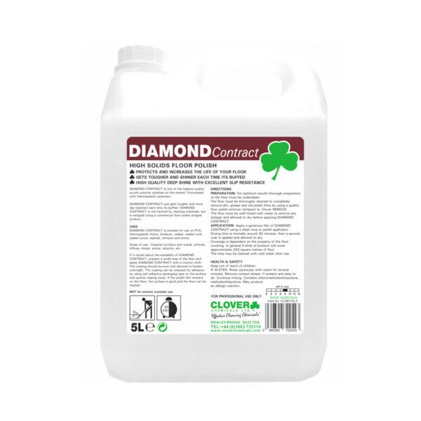 Clover Diamond Contract High Solids Floor Polish from Mojjo