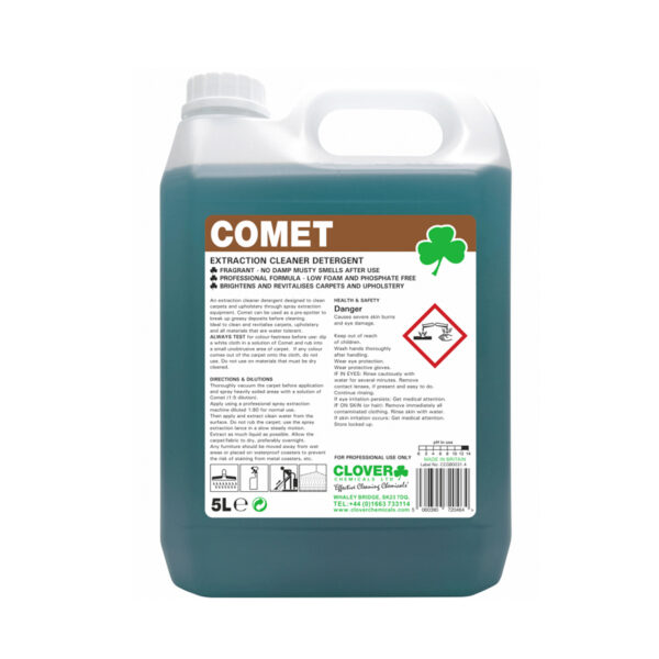 Clover Comet Extraction Cleaner Detergent 5L from Mojjo