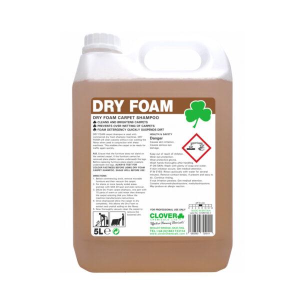 Clover Dry Foam Carpet Shampoo 5L from Mojjo