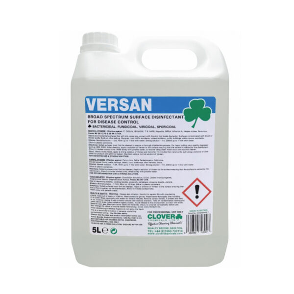 Clover Versan Surface Disinfectant 5L from Mojjo