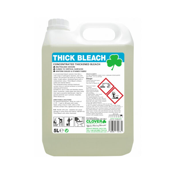 Clover Thick Bleach 5L from Mojjo