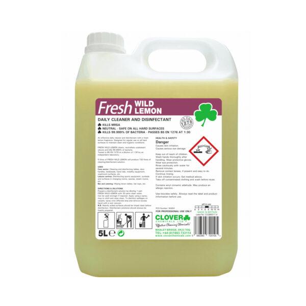 Clover Fresh Wild Lemon Disinfectant 5L from Mojjo