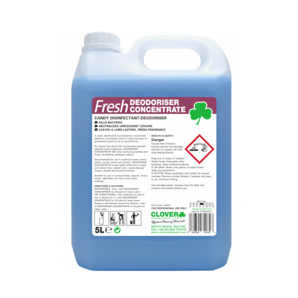Clover Fresh Deodoriser Concentrate Candy Disinfectant 5L from Mojjo