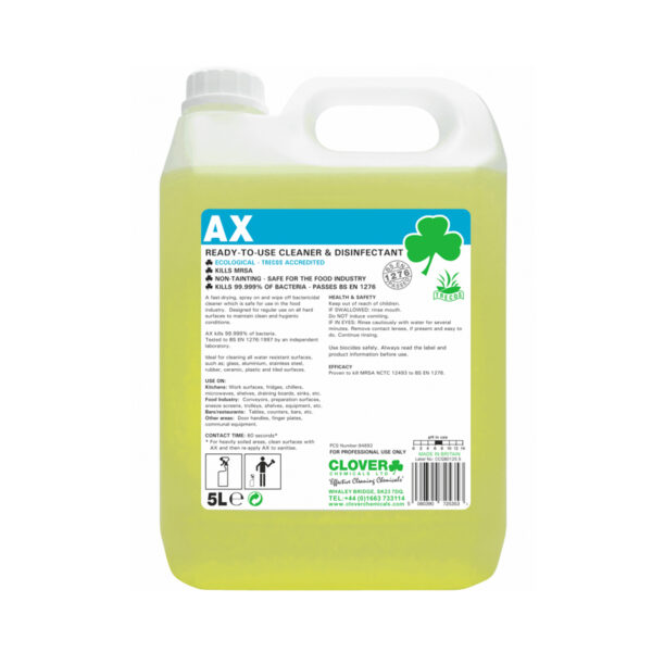 Clover AX Bactericidal Cleaner 5L from Mojjo