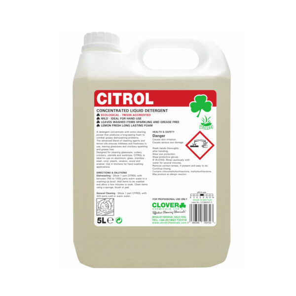 Clover Citrol Concentrated Liquid Detergent 5L from Mojjo