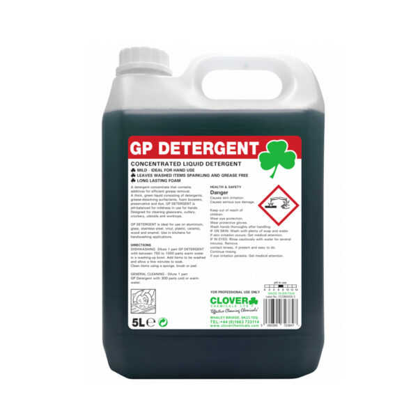 Clover GP Detergent Concentrated Liquid Detergent 5L from Mojjo