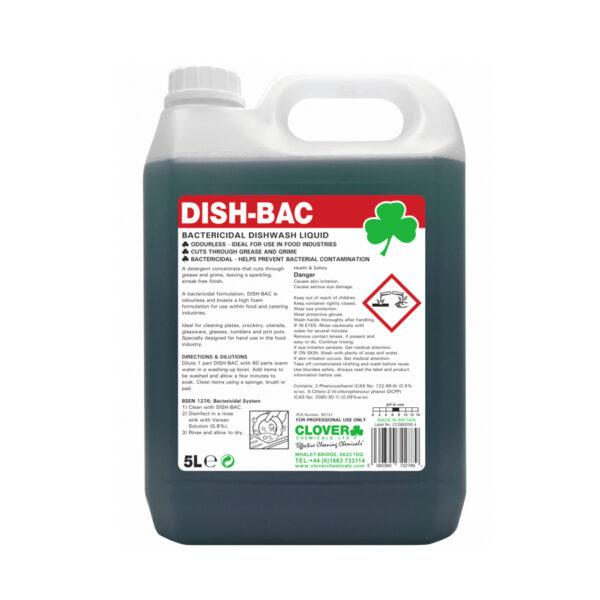 Clover Dish-Bac Bactericidal Dishwash Liquid 5L from Mojjo
