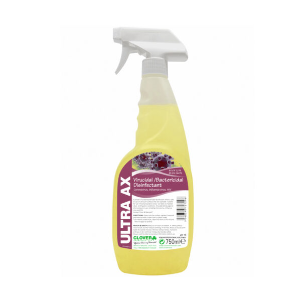 Clover Ultra AX Virucidal Disinfectant 750ml from Mojjo