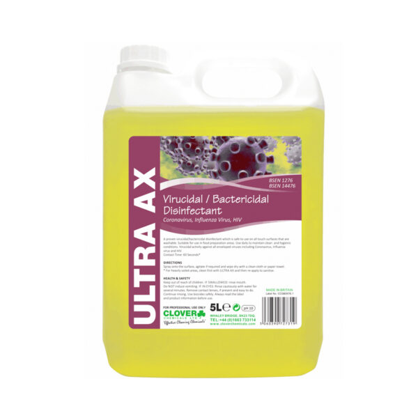 Clover Ultra AX Virucidal Disinfectant 5L from Mojjo
