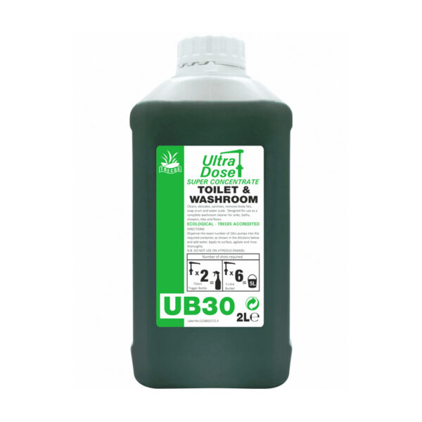 Clover UB30 Toilet & Washroom Concentrated Cleaner 2L from Mojjo