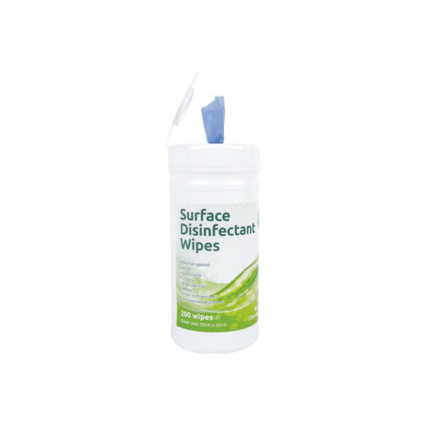 Ecotech Surface Disinfectant Virucidal Wipes Tub 200 from Mojjo