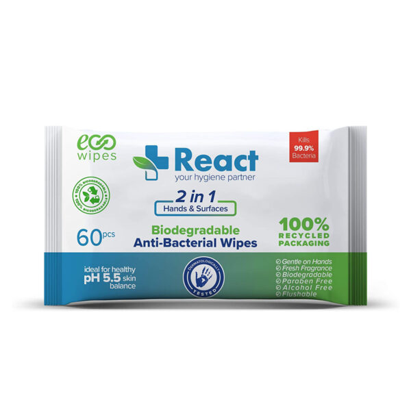 React ECO wipes - Anti-Bacterial Wipes
